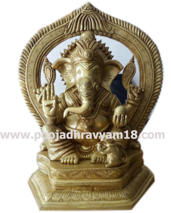Brass Ganesh Vigraham