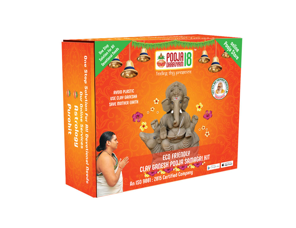 Eco Friendly Clay Ganesha Samagri Kit